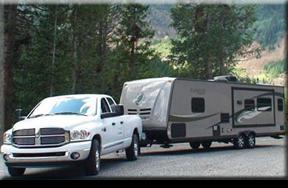 truck pulling rental rv